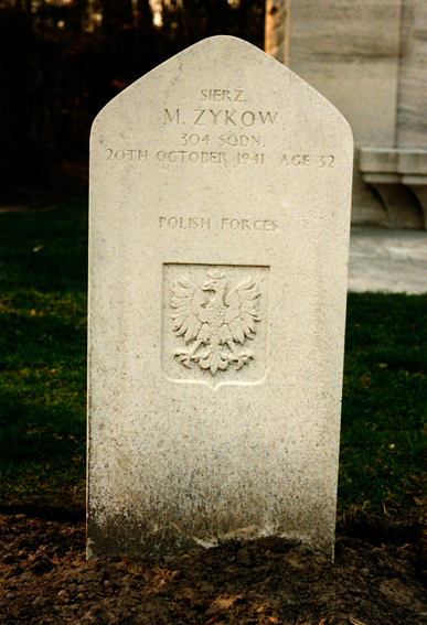 Graves of the polish soldiers