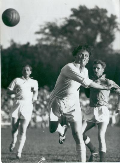 Bernhard Kempa at the World Championship in Field Handball 1952