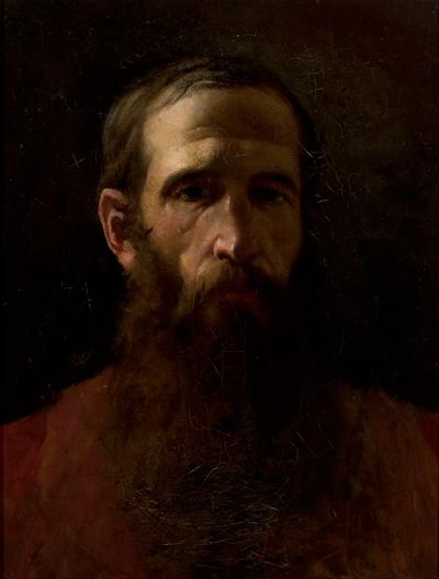 Witold Pruszkowski (1846-1896): Portrait Aleksander Gierymski, Munich 1889. Oil on canvas, 53 x 41 cm.