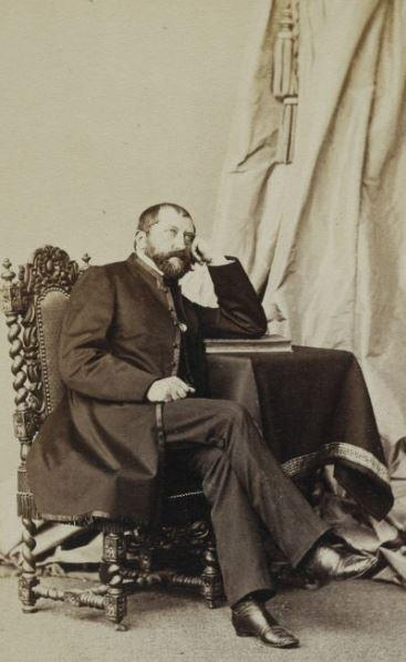 Ludwik Romuald Ślaski (1818-1898). Polish lord of the manor and member of the Prussian Landtag, 1871-74 member of the Reichstag of the German Empire. Photo: the Photography Society Berlin, ca. 1865.